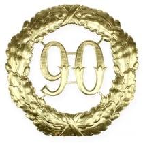 Aniversario número 90 en oro Ø40cm.