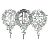 Aniversario números plata