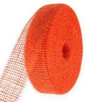 Cinta de yute naranja 5cm 40m