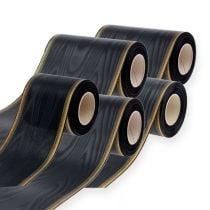 Guirnalda cinta moiré negro