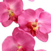 Orquídea Artificial con hojas Rosa 68cm