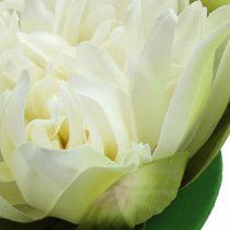 Crema de flor de loto artificial 13cm 4pcs