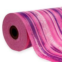 Papel de puño 25cm 100m rosa, rosa