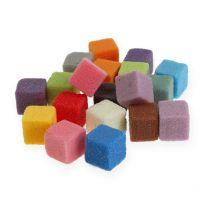 Mini cubos de espuma floral húmeda de colores coloridos 300p