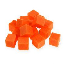Mini-cubo de espuma húmeda naranja 300 piezas