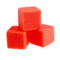 Mini cubo de espuma húmeda rojo 300 piezas