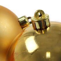 Bolas navideñas plástico dorado 8cm 6pcs