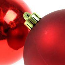 Bolas de Navidad plástico rojo 8cm 6pcs