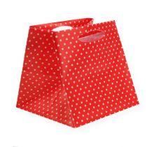 Bolsa de plástico tipo rojo. 6,5cm x 6,5cm 12 piezas