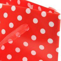 Bolsa de regalo roja, blanca 31cm 5pcs