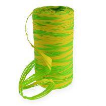 Banda de Rafia Bicolor Verde-Amarillo 200m