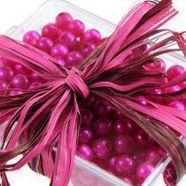 Cinta de rafia bicolor rosa-marrón 200m