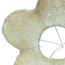 Puño de sisal blanqueado Ø25cm 6pcs