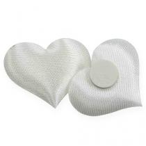 Decoración de corazón blanco 28x32mm 100pcs