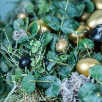 Huevo de codorniz decoración negro vacío 3cm decoración de primavera decoración natural 50p