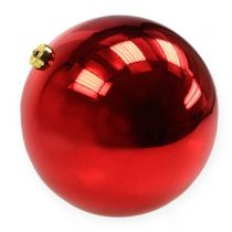 Bola navideña de plástico grande roja Ø25cm