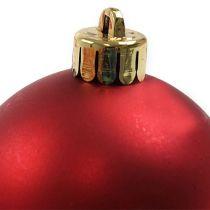 Bola navideña plastico rojo Ø6cm 12pcs