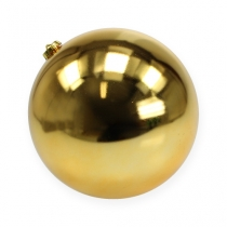 Bola navideña mediana oro 20cm plástico