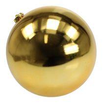 Bola navideña de plástico grande dorado Ø25cm