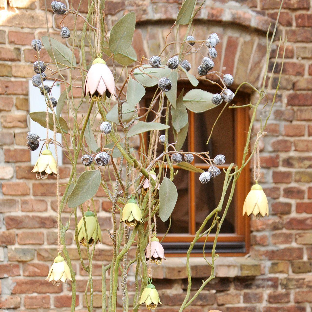 Decoración para colgar Metallblüten Tulip 6cm 3pcs