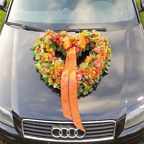 Espuma floral corazón abierto tela floral verde 38cm 2 piezas decoración de boda