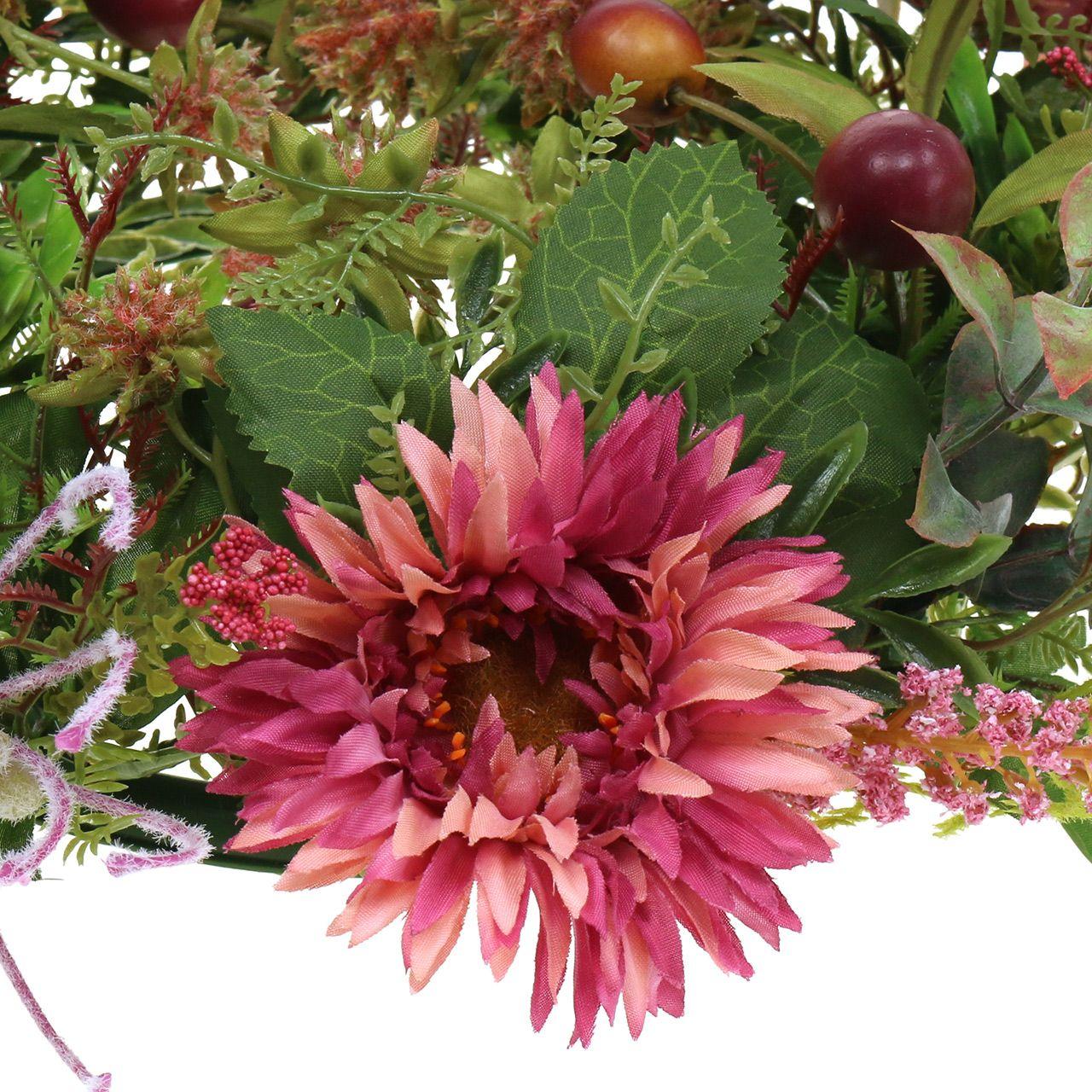 Guirnalda de otoño Crisantemo Morado Ø30cm