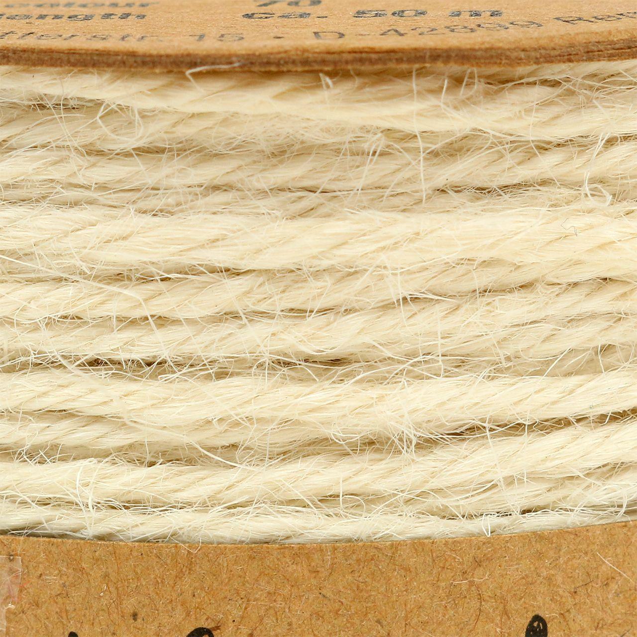 Cordón de yute blanco Ø2mm 100g