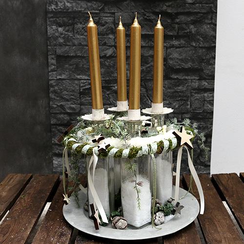 Portavelas para candelita Ø9cm H9cm