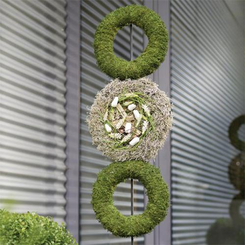 Corona de anillos de espuma floral H4cm Ø30cm 4pcs