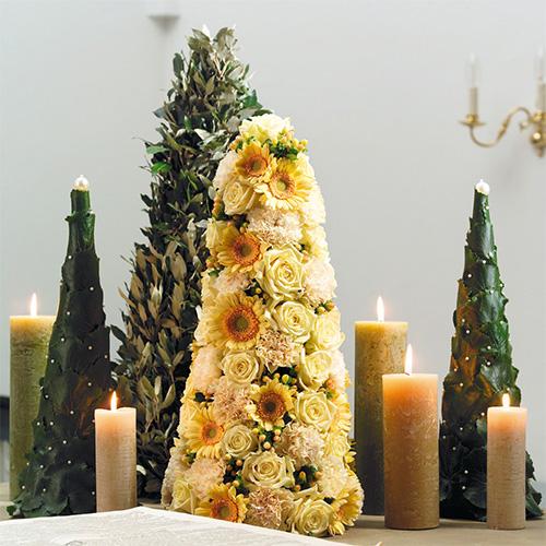 Espuma floral en forma de cono Al50cm Ø15cm 2ud
