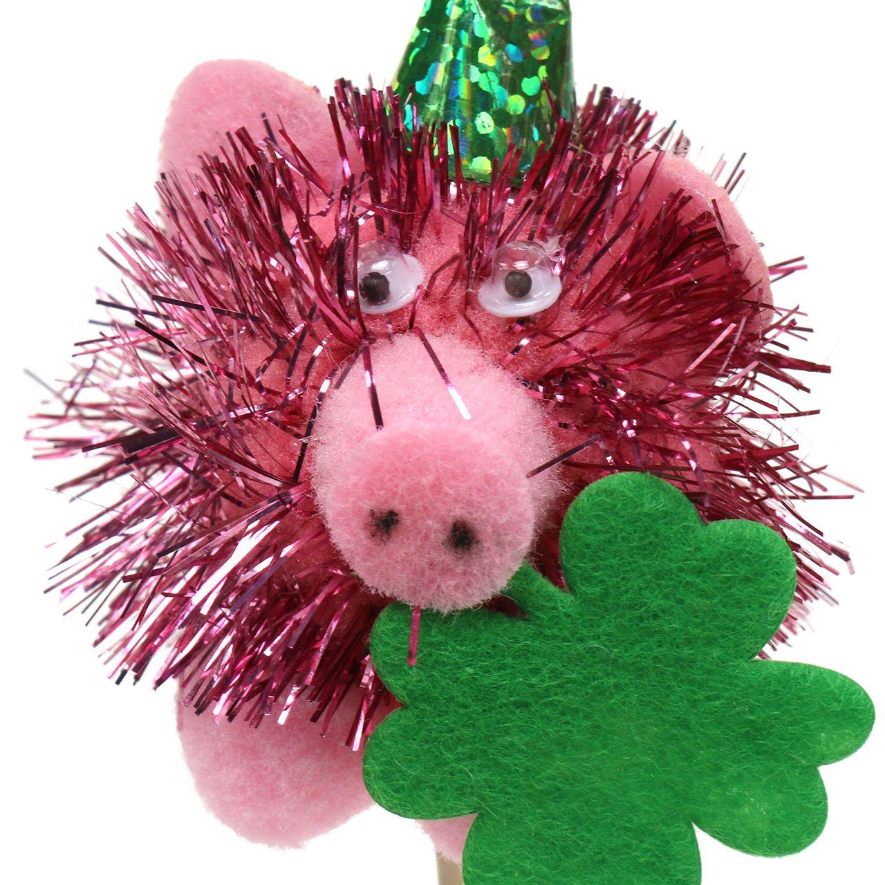 Colgante para decoración Nochevieja Cerdo de la suerte 8 piezas