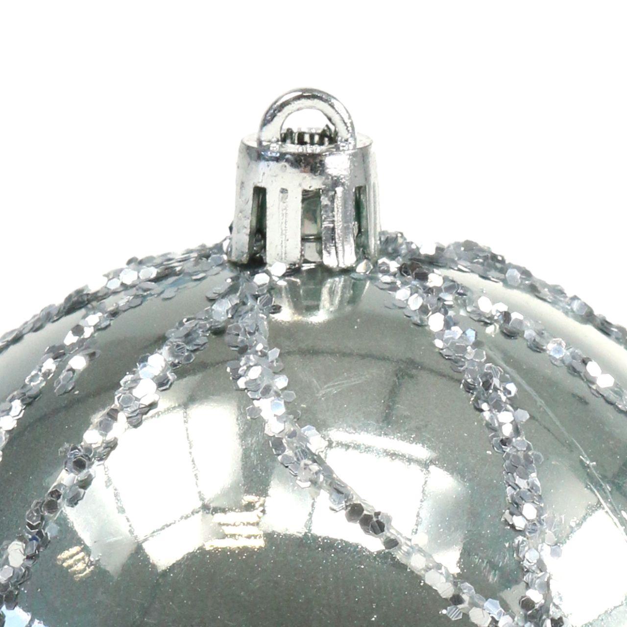 Bola Navidad plástico plata Ø8cm 2pcs