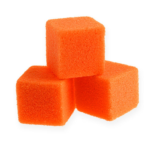 Mini cubo de espuma húmeda naranja 300p