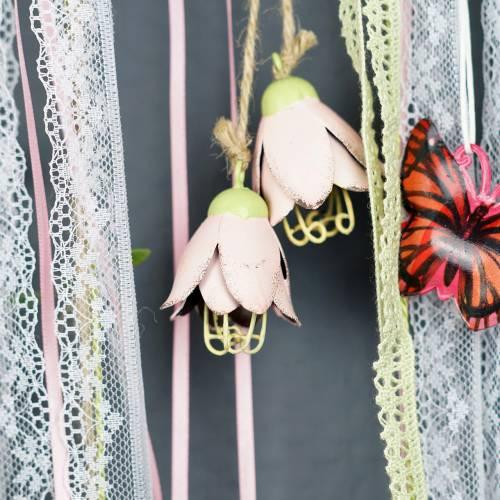 Flor de metal Decoración para colgar 13cm 3pcs