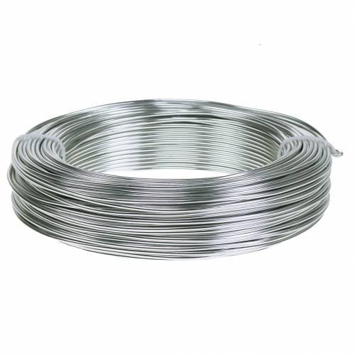 Alambre de aluminio 2mm 500g plata