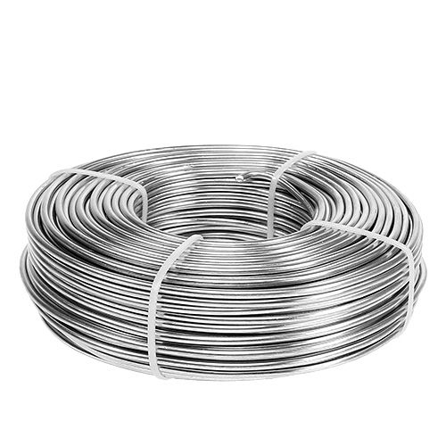 Alambre de aluminio 3mm 1kg plateado