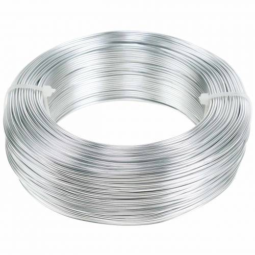 Alambre de aluminio Ø1.0mm plata 250g 120m