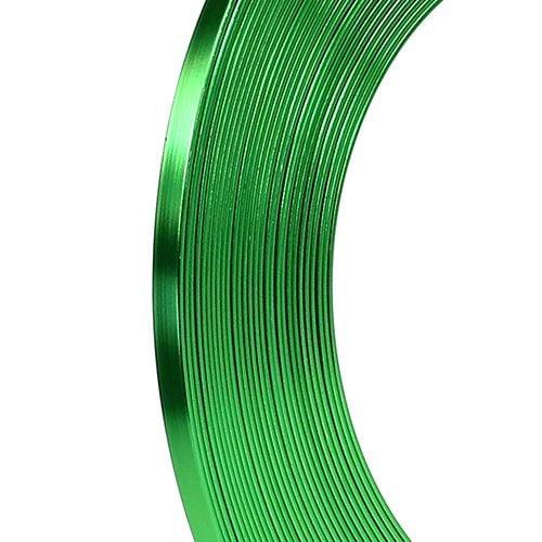 Alambre plano de aluminio verde manzana 5mm 10m
