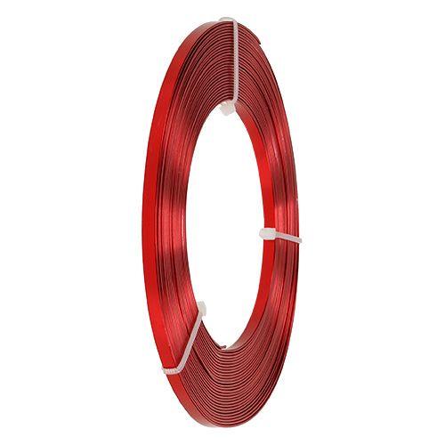 Alambre plano de aluminio rojo 5mm 10m