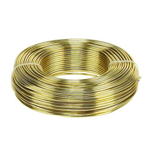 Alambre de aluminio Ø2mm 500g 60m oro