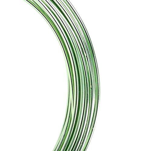 Alambre de aluminio 2mm 100g verde menta