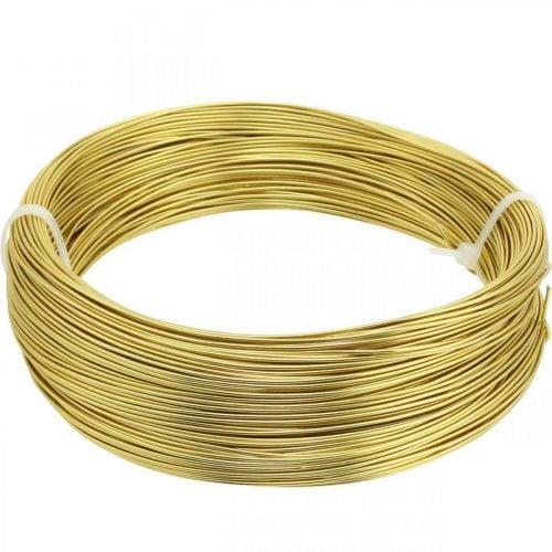 Alambre de aluminio Ø1mm alambre dorado decorativo redondo 120g