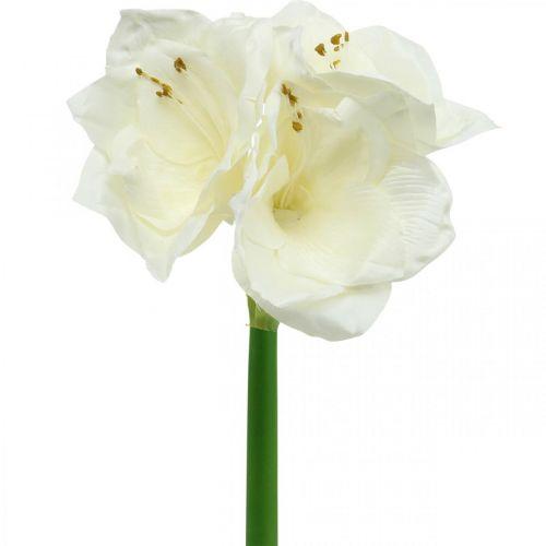 Flor artificial amaryllis white knight star decoración navideña H40cm