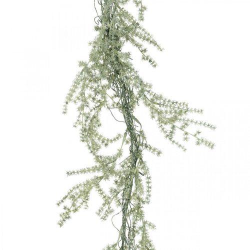 Guirnalda de espárragos artificiales blanco, gris percha decorativa 170cm