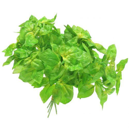 Albahaca artificialmente verde 25cm 6pcs