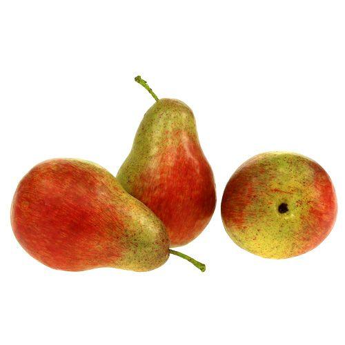 Pera roja, verde 11cm - 12cm 3 piezas