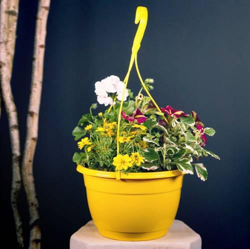 Cesta de flores 25cm lila