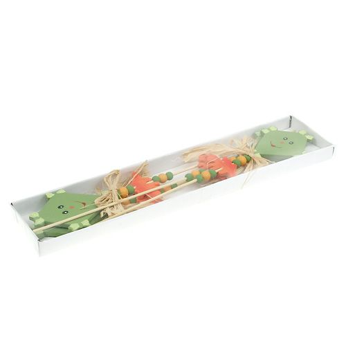 Tapon de flores dragon verde L31cm 4pcs