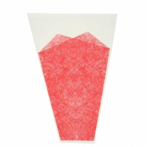 Bolsa de flores yute rojo L36cm L25cm - 12cm 50p