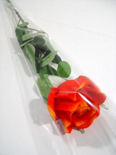 "Bolsa de flores para 1 rosa ""Blanko"" L65cm W14cm - 3cm 50pcs"